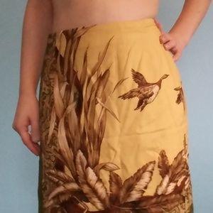 Vintage looking wrap skirt